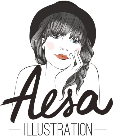Aesa, illustratrice de mode professionnelle freelance à Lyon